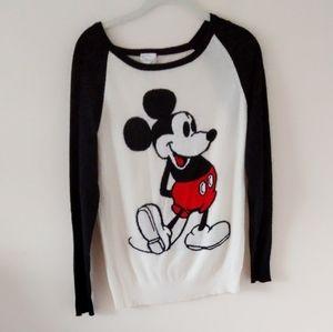 Disney Mickey Mouse raglan sleeve sweater